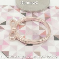 Cheap 2015 New bowknot Bow Rose Ring with Clear Cz 925 Sterling Silver Daisy Ring With Clear Cz Match Pandora Jewelry european ring DF627