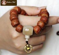 Cheap #005S Tibetan Buddhist Fengyan Pu Tizi Phoenix eye Bodhi Seed Ox Horn Brass mala prayer beads 10*14 bracelet wrist prayer beads buddha beads