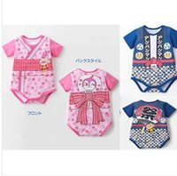 anpanman clothes - Manufacturers accusing summer blue pink Japanese Anpanman climbing clothing coveralls modeling