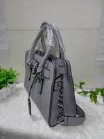 purse hardware - 2016 European and American popular style GREY color with Silver hardware women lady genuine leather designer handbag tote bag purse