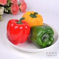 bell pepper fruit - Real toouch Red rice home artificial vegetables fake fruit lantern redpepper bell pepper