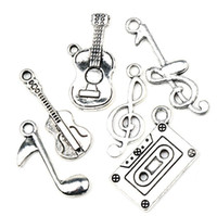 music charm pendant - MIXED Antiqued Silver Note Music Theme Charms Pendants Jewelry DIY