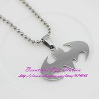 beaded bundles - Contracted stainless steel jewelry pendants movie batman titanium necklace line accessories bundle of ornaments
