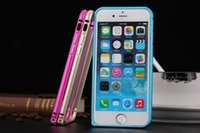 Wholesale iPhone6 Plus hippocampus buckle metal frame phone shell mobile phone protection shell cell phone protective frame DHL