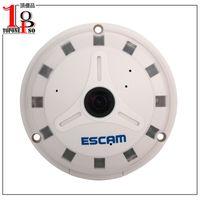 Wholesale TopOneSo piece ESCAM Panarama QP130 Degree Fish Eye MP H ONVIF P2P Day Night Security IP Network Camera