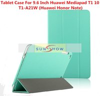 Wholesale 2015 Origin Ultra Slim Stand Leather Case For Inch Huawei Mediapad T1 Tablet Case For Huawei T1 A21W