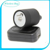 audio bug - Wall Audio Wiretap Listening Device Cylinder listening Amplifier On Wall Door Eavesdropping spy audio bug black in retail box