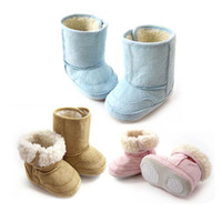 Wholesale Baby winter snow boots thermal berber Fleece thickening cotton padded shoes for baby boys and girls B155