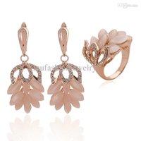 Cheap Oval Opal Crystals Banana Best Earrings Rings For Women