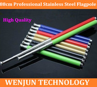 Wholesale Multicolor Choice cm lightness teachers pointer guide stainless steel flagpole telescopic pointer pen order lt no track