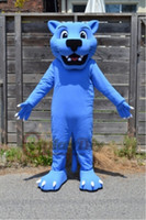 Wholesale Custom made blue panther mascot costume adult animal cartoon mascot costume festival party fancy dress