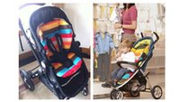 baby dinning chair - Thicken The Rainbow Cart Pads Baby Thicken Cotton Waterproof Rainbow Cotton Pad Seat Cushion Baby Dinning Chair Baby Strollers Cushion