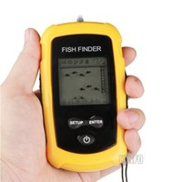 Wholesale 100M Portable LCD Fish Finder Sonar Depth Sounder for Fishing PFF01O H25