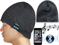Wholesale Bluetooth Music Hat Soft Warm Beanie Cap with Stereo Headphone Headset Speaker Wireless Microphone