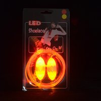 Cheap 30pcs=15pairs LED Flashing Shoelace LED Shoelaces Shoe Laces Flash Light Up Glow Stick Strap Shoelaces Disco Party Skating Sports Glow Stick