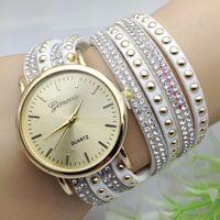 Wholesale Free DHL Women Dress Brand Quartz Wrist Watches Ladies Reloj Mujer Children Geneva Bracelet Drill Luxury Exclusive Girl XR727