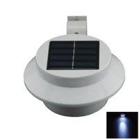 mini solar light garden - Outdoor W LED Warm Cool White Light Mini Waterproof Solar Powered Fence Garden Wall Lamp W1530