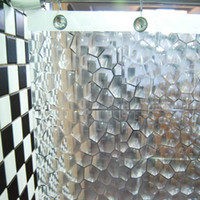 Wholesale PEVA Waterproof D Version Cube Transparent Shower Curtain also Can Use as Curtain Great gift for Girl Friend order lt no track