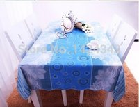 pvc table cloth - A03 High Quality PVC Table Cloth Plastic Waterproof Oil Dining Tablecloth factory sales