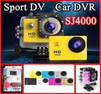 Wholesale NEW SJ4000 Waterproof Sport DV HD Camera Camcorder Mini Gopro Style Action Camera Novatek P fps MP H Inch LCD CAR DVR