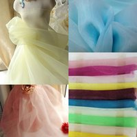 fabric tulle - 2015 Hot Sale Organza Fabric For Wedding Prom Dresses Sheer Tulle Fabric Colorful Light And Airy Material Cheap Flower Girls Dress Fabric