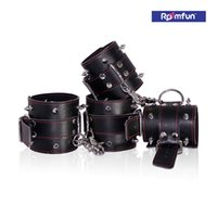 adult rivets - Roomfun Leather Spiked Rivet Handcuffs Ankle Cuffs Dom Sub Bondage Kit Adult BDSM Sex Toy Sex Product