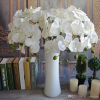 Wholesale 100pcs Popular white Phalaenopsis Butterfly Orchid flower cm quot Length Colors Artificial Phalaenopsis for Wedding