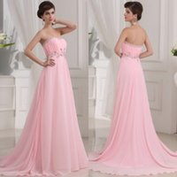 Cheap 2015 Beaded Cheap Evening Dresses Strapless Sweep Train A-Line Vintage Formal Dresses Designer Occasion Dresses Empire Bridesmaid Dresses