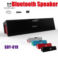 amplifier digital radio - Bluetooth Speaker Portable SDY019 With Screen MIC FM Radio TF Wireless Subwoofer USB Digital Stereo Amplifier Car Outdoor MIS065