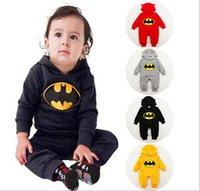 Wholesale 2015 Baby Clothes Boy Girls Cotton Blends Harem Pants Batman Jumpsuit Climbing Baby Clothes Print Long Sleeve Pants Baby One Piece Romper