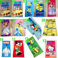 beach bathroom colors - 12 TOPB4571 colors kids printed frozen fever sofia beach towels minions Cinderella bathing towel cotton bathroom mickey big hero KT towel