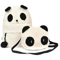 Wholesale High Quality Shoulder Book Bag New Hot Fashion Cute Girl Style Panda Schoolbag Backpack Shoulder Book Bag Set