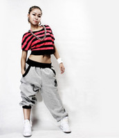 Wholesale New Fashion Hip Hop Sports Dancer Jeans Pants Unique Casual Loose Trousers Red Gray Black Size M XXL zx E2742 S8