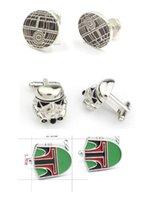 Wholesale 300pairs fashion designs star Wars Cufflinks Cuff Links Cartoon Jedi Knight Novelty Cufflinks Jewelry Cuff Links D527