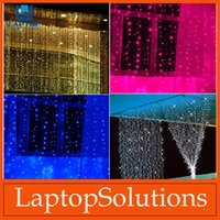 led christmas icicle lights - LED Lights Curtain String Lights Christmas Xmas Garden Lights New Year Icicle Lights Outdoor Lighting For Xmas Wedding Party Decorations