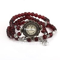 beaded watch designs - 100pcs Exclusive Design Vine Watches Stretch Bracelet Beaded Watches Fish Pendant Watches Excellent Quality