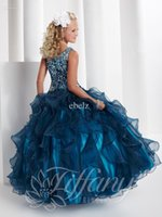 girls pageant dresses size 12 - 2014 Beads and Sequins One Shoulder Ball Gown Girls Pageant Party Prom Dresses Size