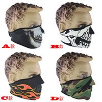 Wholesale Sports CS Ski Motorcycle Mask Halloween Party Cosplay Scary Half Face Volto Mask costume Skull Masks