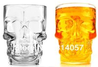 beer with vodka - Fedex Crystal Head Vodka Skull Cup Mug Glass ml Stein Glass Shot Head Skull for Beer With Retail Box