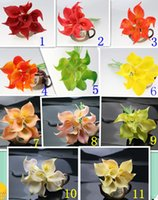 romantic home decorations - Cheap price Real Touch Artificial Calla Lily Flower Color For Romantic Wedding Bridal Bouquet Home Decoration
