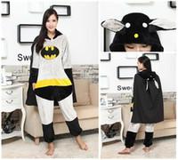 adult batman suit - BatMan Unisex Adults Casual Flannel Hooded Pajamas Cosplay Cartoon Cute Animal Onesies Sleepwear Suit Nightclothes