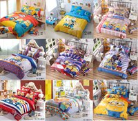 Wholesale Cartoon kid child bedding sets Minions of despicable me bed set Kids Piece Bedding Set