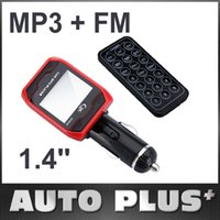 Wholesale 1 LCD Rotatable Car MP3 Stereo Audio Player Wireless FM Transmitter Radio Support USB Disk SD MMC TF Remote Control
