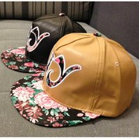 Wholesale NEW ARRIVAL Fashion Lady Floral Baseball Caps Cool Letter Caps Korean Style Autumn Winter Caps