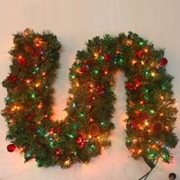 pine cones - 2 m LED Shiny Christmas Tree Decoration Rattan with Pine Cones Hotel Mart Decoration Rattan hjf ld