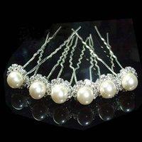 Cheap Fashion Jewelry 10 PCS Wedding Tiaras & Hair Accessories Swarovski Crystal Pearl Hair Pins Cheap Head Piece