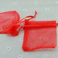 Wholesale Random Mix Colors Jewelry Packing Organza Bags x9cm Wedding Gift Bags Pouches