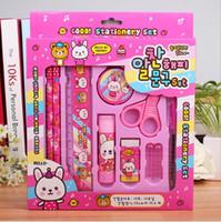 Wholesale hot sale frozen Stationery set Children s pencil rubber pencil sharpener ruler scissors cheap