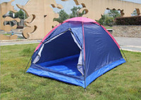 Wholesale Folding Beef Tendon Waterproof Outdoor Double Tent Monolayer Beach Camping Tourism Disaster Relief Double Tent Sell Like Hot Cakes