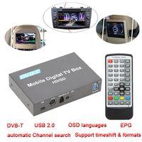Wholesale DVB T Mini Channel Mobile Car Set Top Box Digital TV Box Analog TV Tuner Signal Receiver Twin tuners USB2 EPG JPEG Decoder order lt no tra